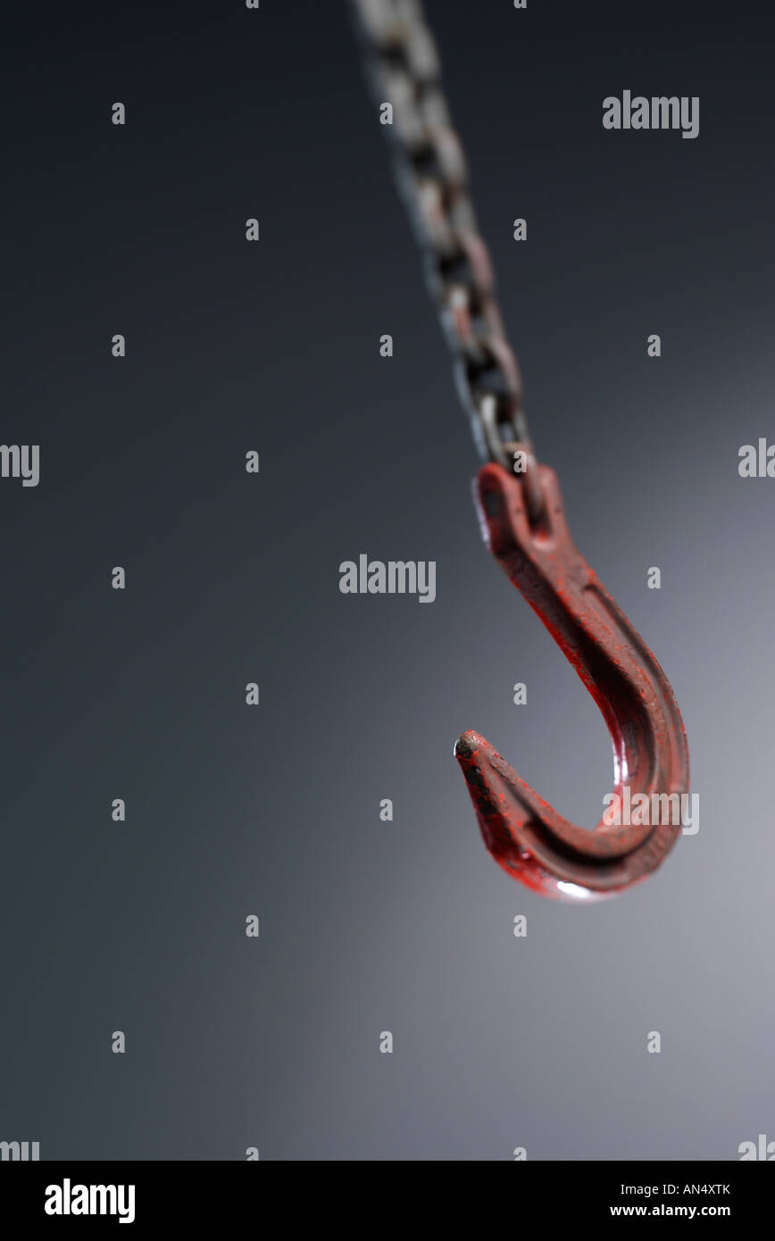 Hook and chain - Stock Image