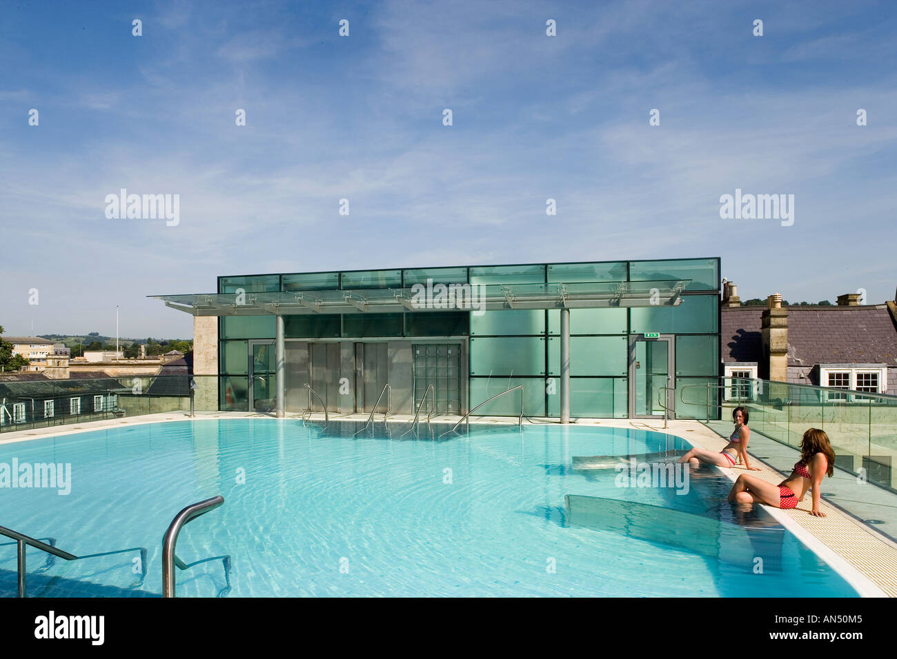 Therm\' Bath Spa, 2006. Open air rooftop swimming pool. Architect ...