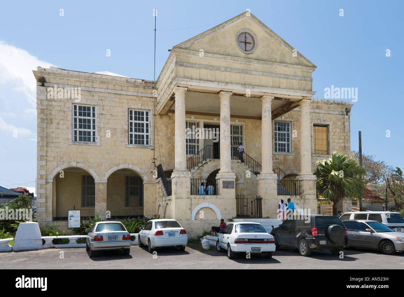 Old Courthouse in Falmouth, North Coast, Jamaica, Caribbean, West Indies - Stock Image