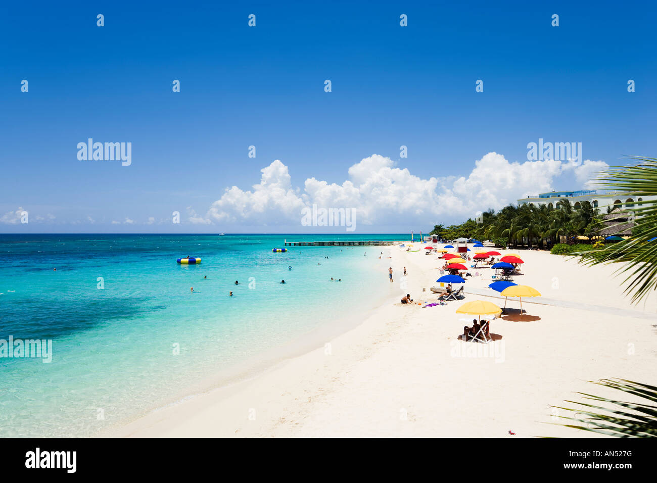Doctor's Cave Beach, North Coast, Montego Bay, Jamaica, Caribbean - Stock Image