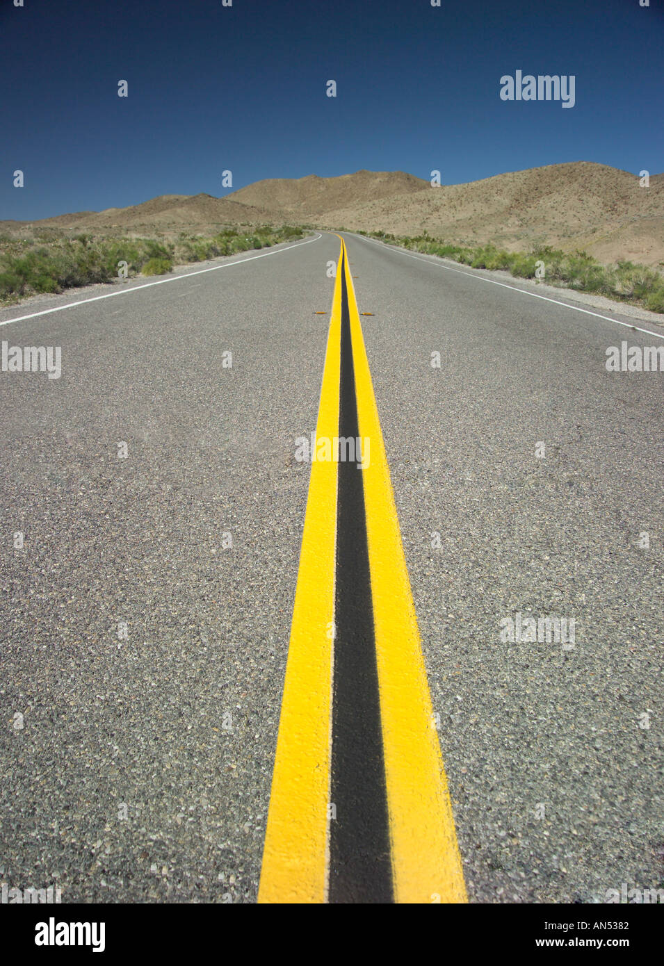 An endless road - Stock Image