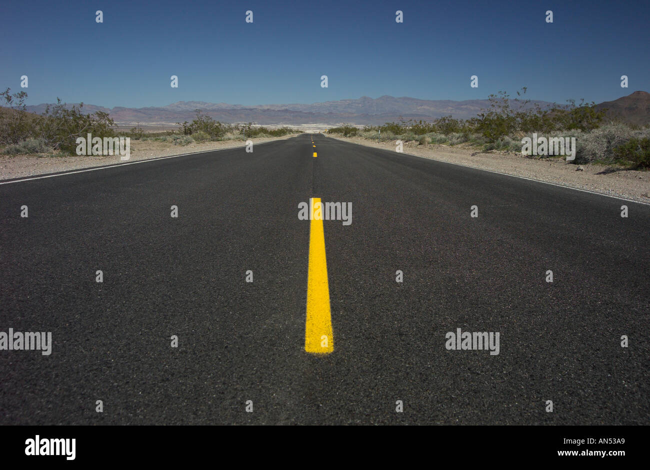 The wide open road - Stock Image