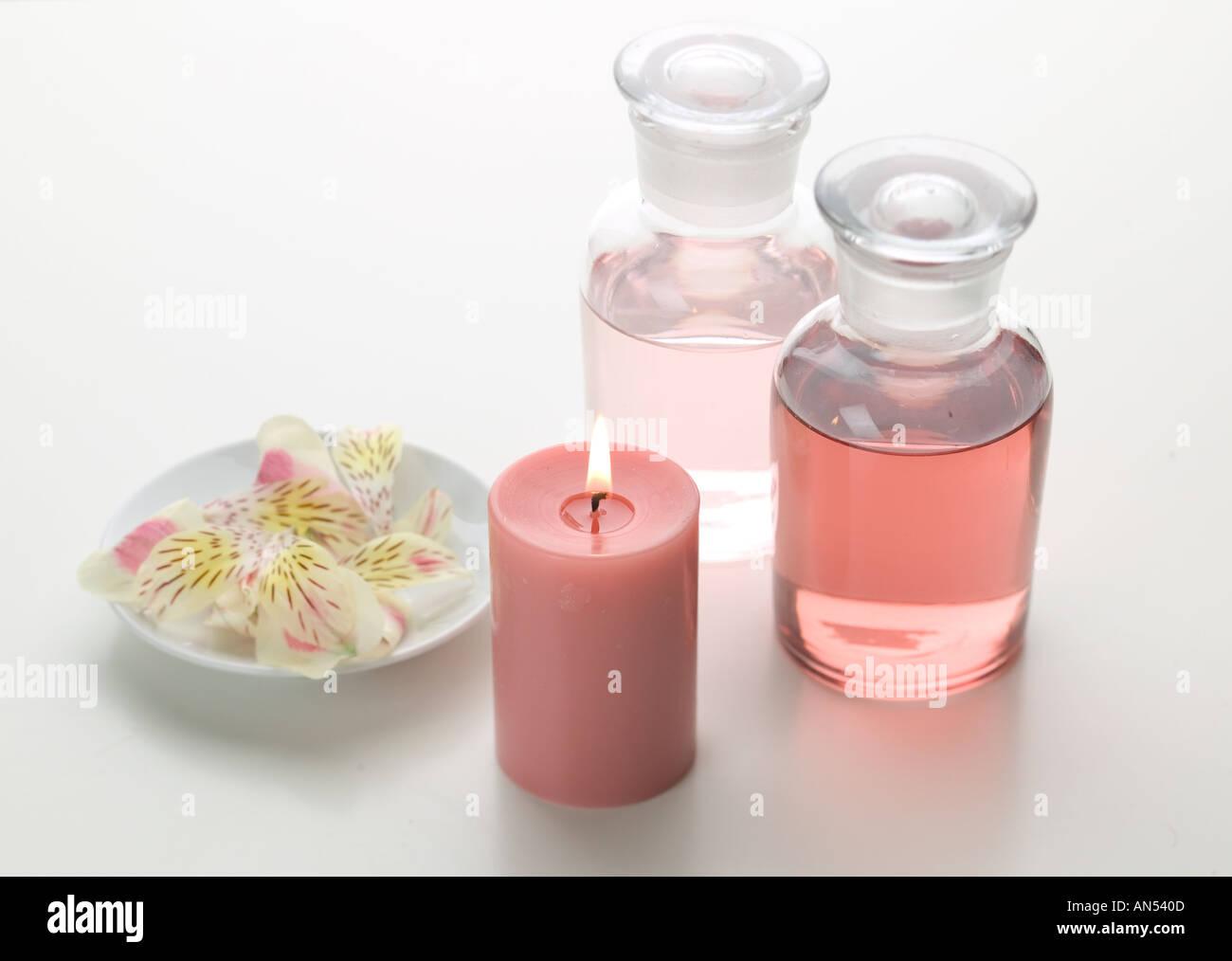 Aroma therapy items - Stock Image