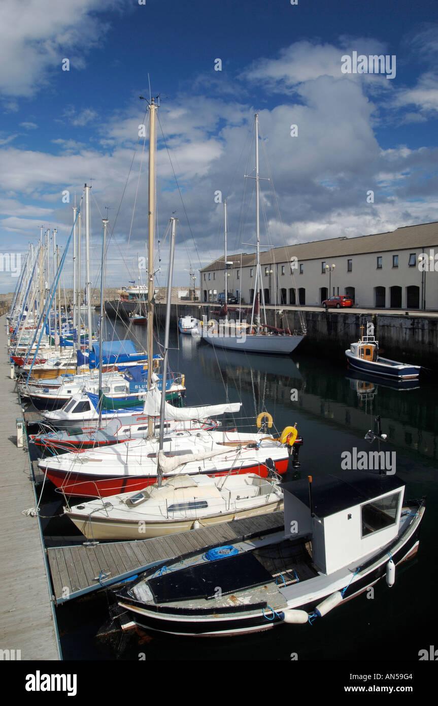 Lossiemouth marina for leisure boats, Morayshire. Scotland.  XPL 3223-321 - Stock Image