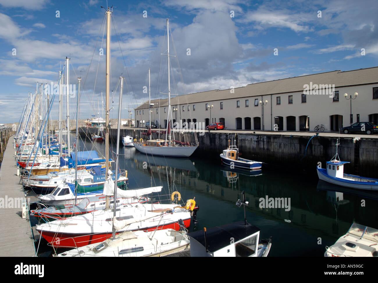 Lossiemouth marina for leisure boats, Morayshire. Scotland.  XPL 3224-321 - Stock Image