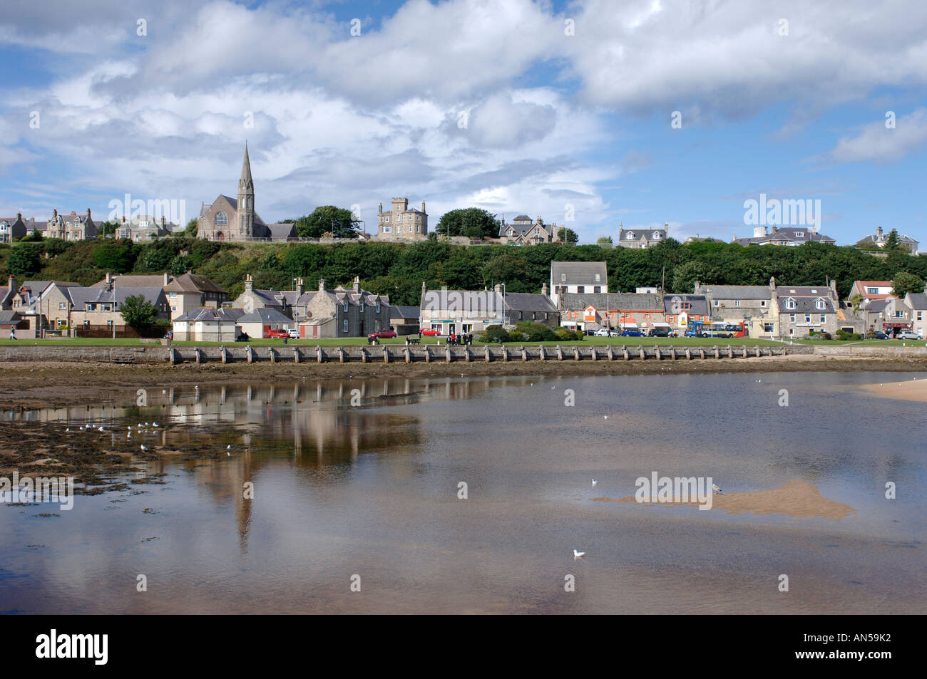 Lossiemouth coastal town, Morayshire. Scotland.  XPL 3229-321 - Stock Image