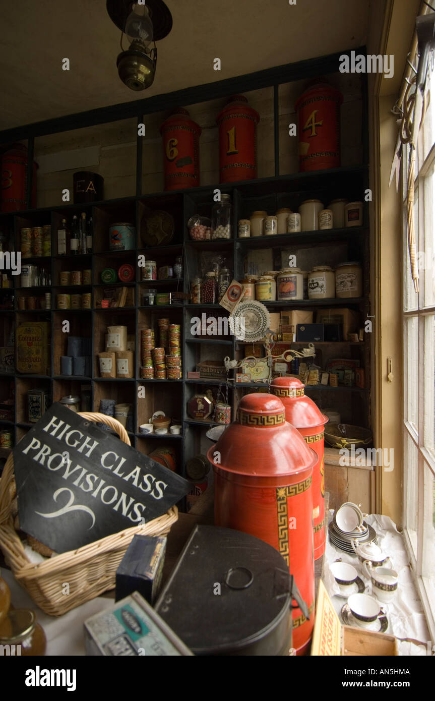 Thomas Museum an authentic restoration of a Victorian village shop Penybont Powys Mid Wales - Stock Image