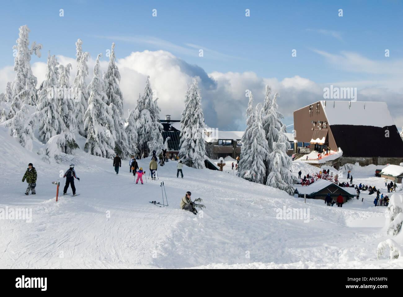 grouse mountain ski resort, north, vancouver, british, columbia