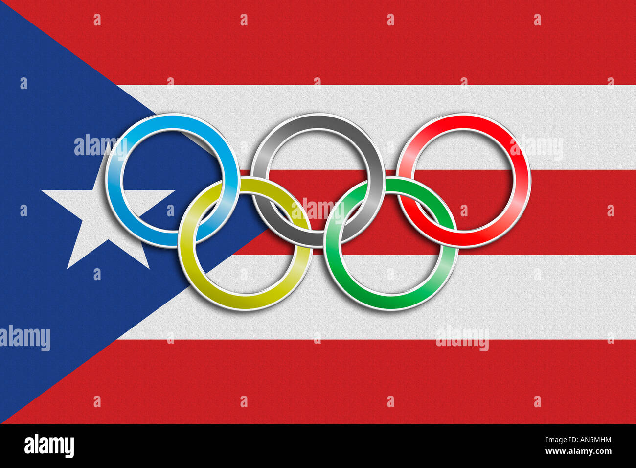 Flag of puerto rico with olympic symbol stock photo 15420367 alamy flag of puerto rico with olympic symbol biocorpaavc Image collections