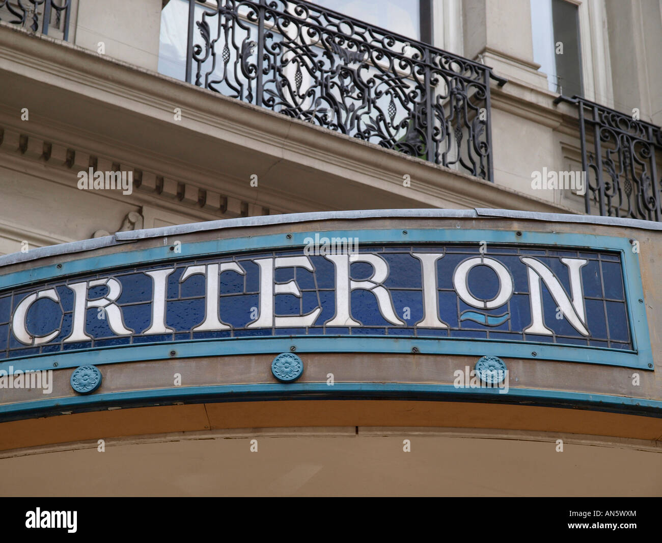 Criterion Restaurant Piccadilly Circus London England - Stock Image