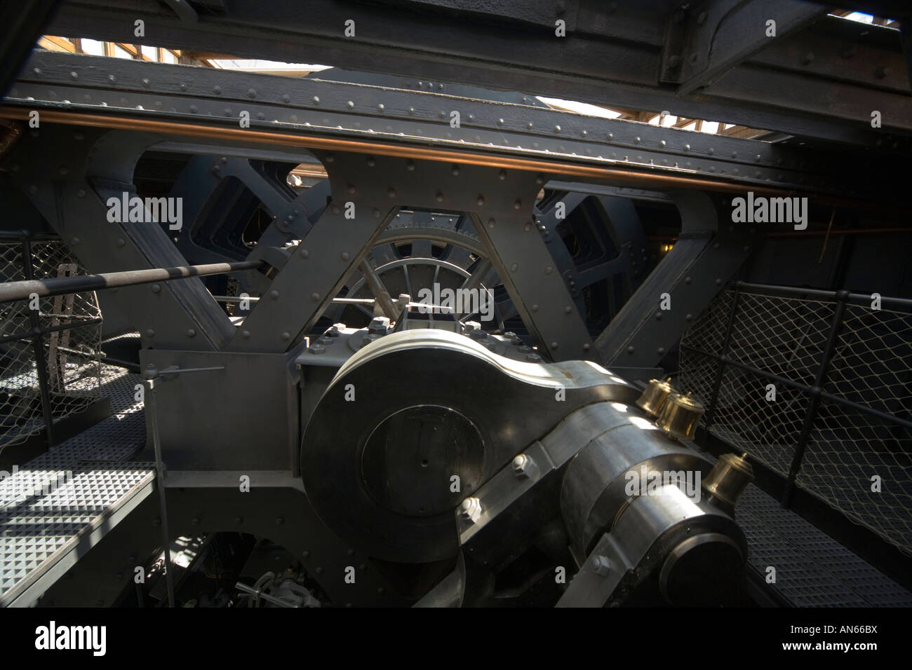 Steam Ship SS Great Britain designed and built by Isambard Kingdom Brunel Promenade deck Engine room Stock Photo
