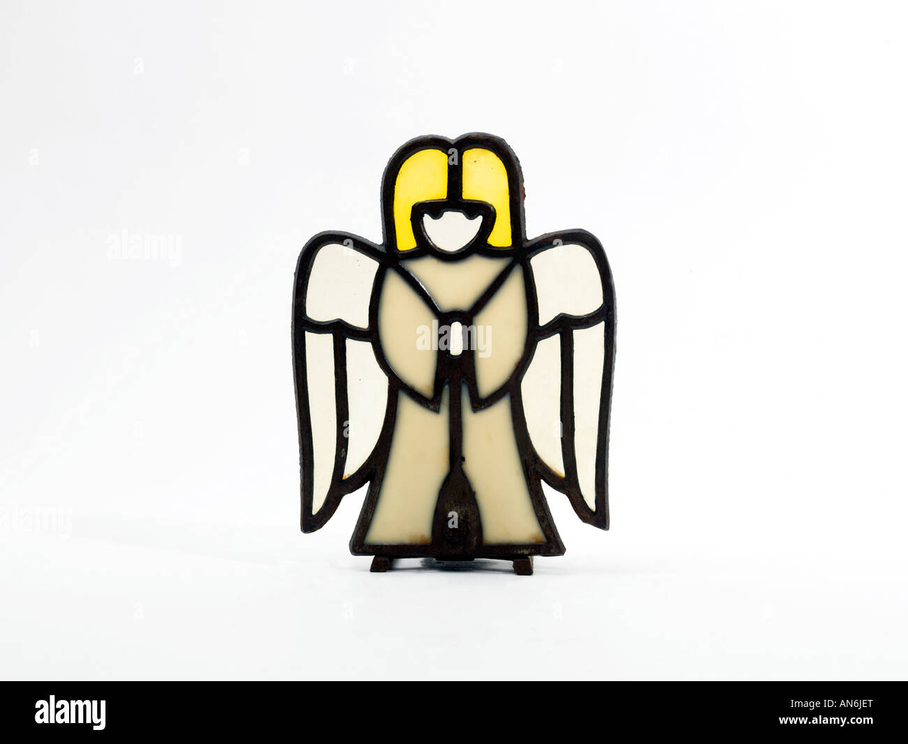 Stained Glass Angel - Stock Image