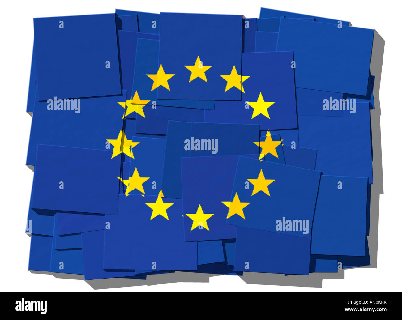 Flag of EU European Union - Stock Image
