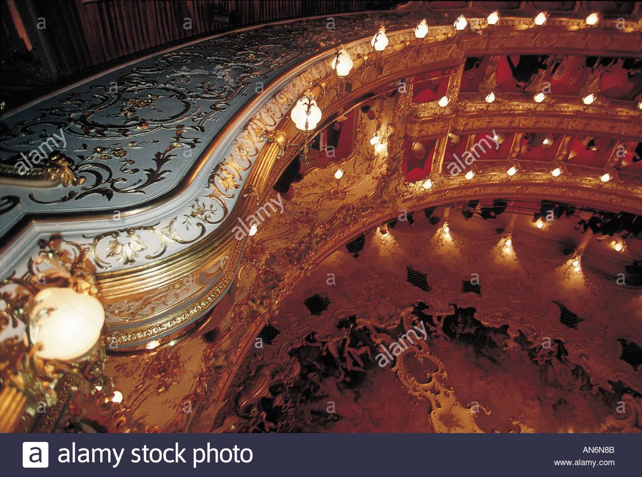 Prague The Opera - Stock Image