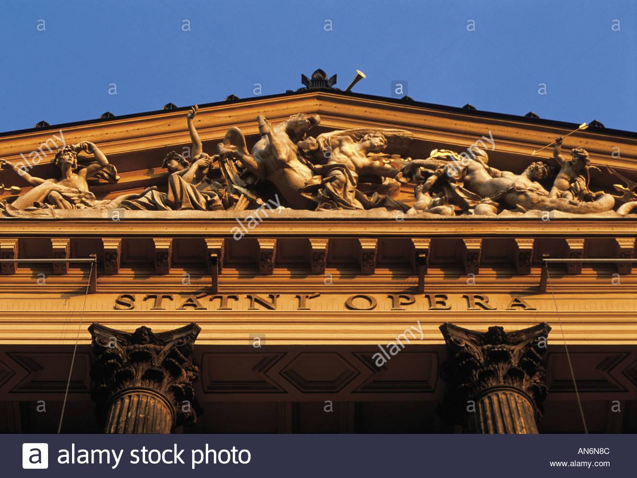 Prague The Opera fronton - Stock Image