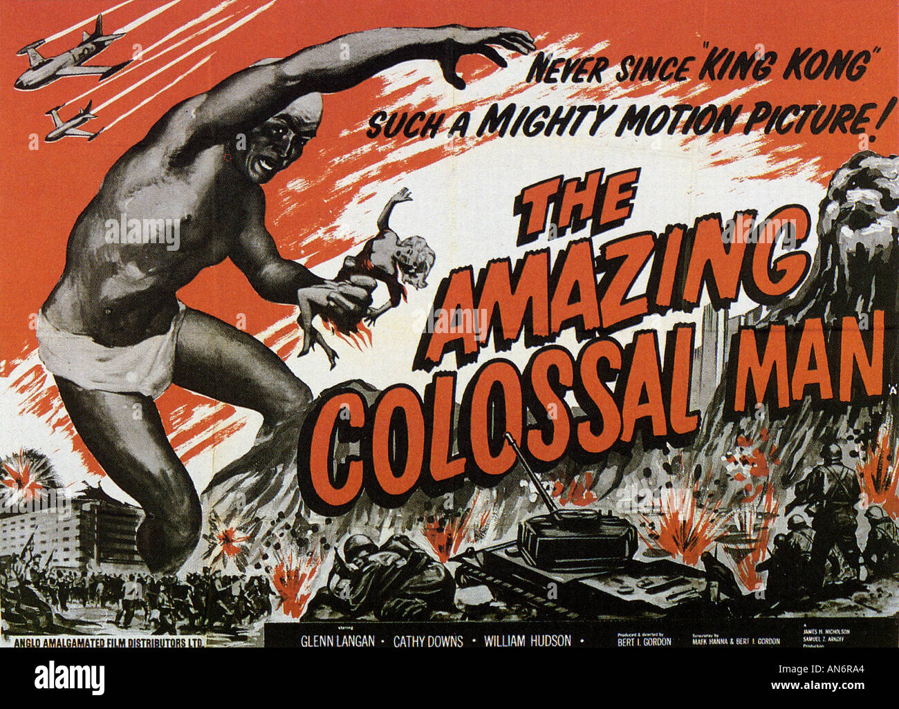 THE AMAZING COLOSSAL MAN - Stock Image