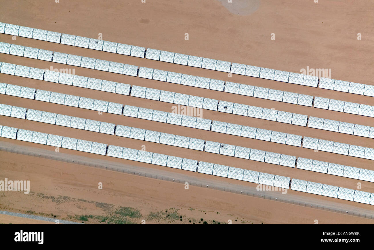 above view above solar array Arizona south of Phoenix, AZ - Stock Image