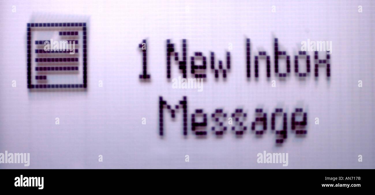 Idea new inbox message digital message - Stock Image