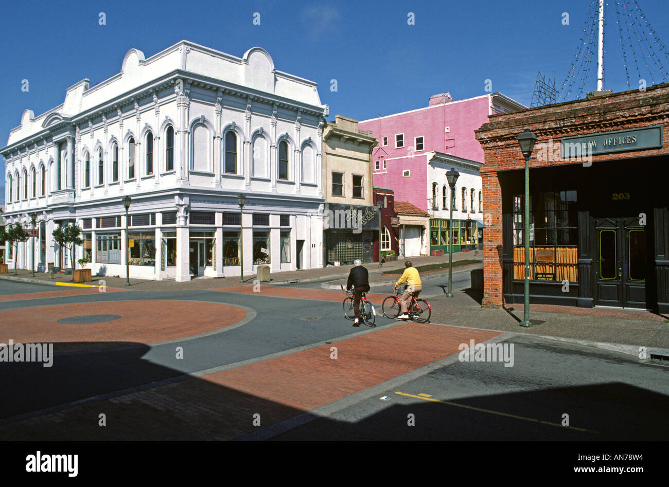 Historical OLD TOWN EUREKA has been renovated is now attractive shops offices EUREKA CALIFORNIA - Stock Image