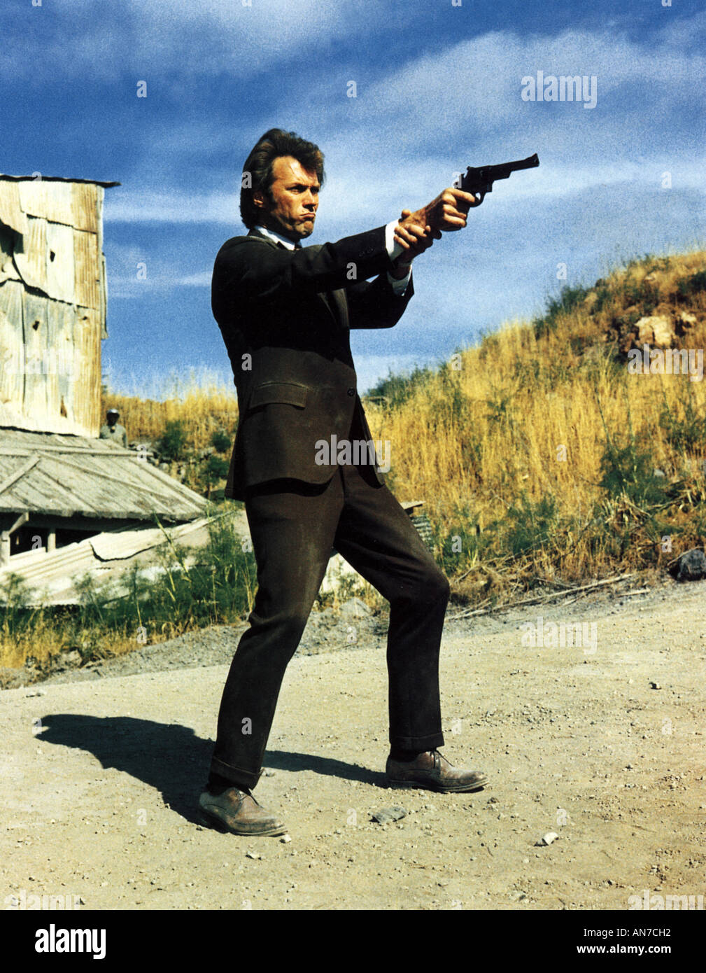 DIRTY HARRY 1971 Warner film with Clint Eastwood - Stock Image