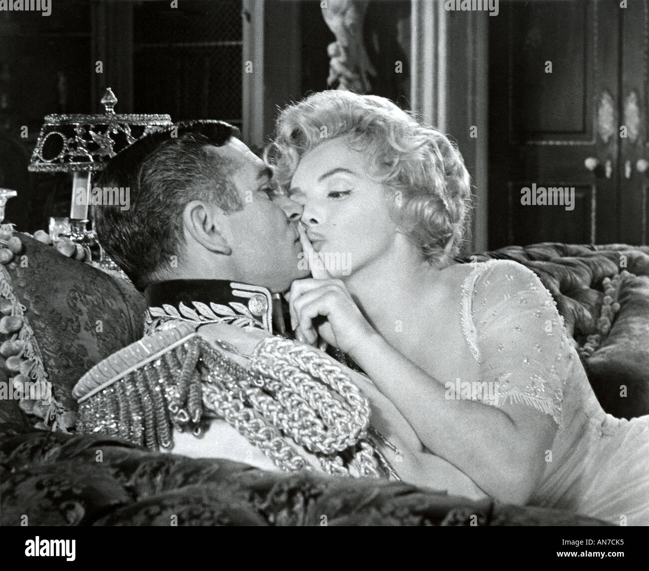 PRINCE AND THE SHOWGIRL 1957 Warner film with Laurence Olivier and Marilyn Monroe - Stock Image