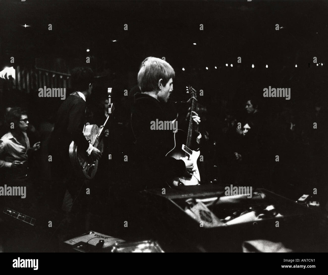 ROLLING STONES first appearance at the Marquee in Wardour Street,London,  on 12 July 1962 as backing for singer Stock Photo