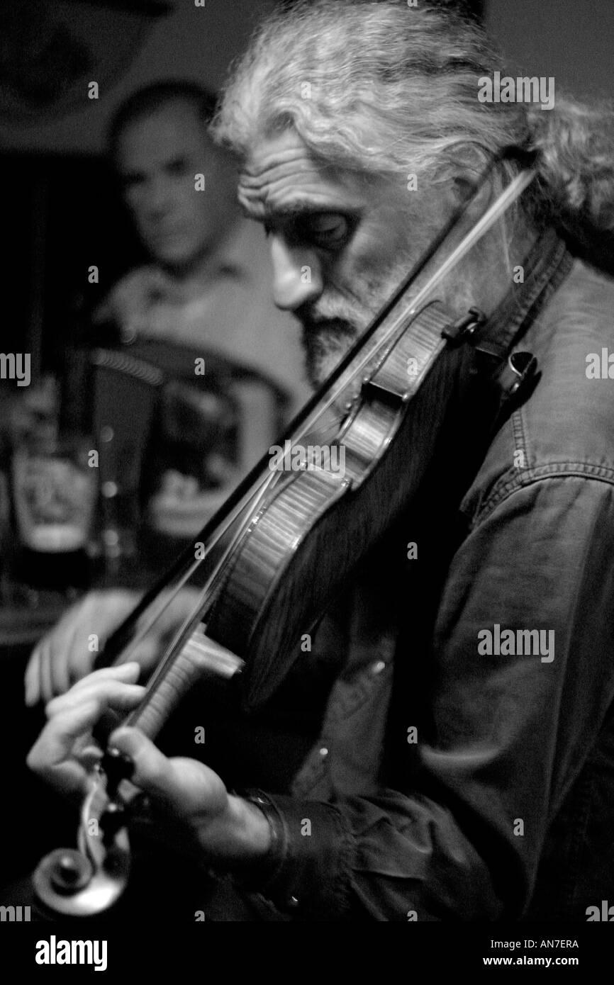 Traditional Irish Music Black and White Stock Photos