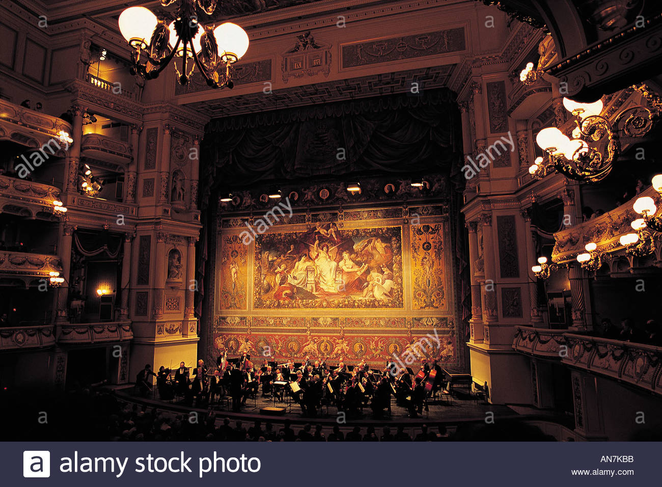 Saxony Dresden the opera stage - Stock Image