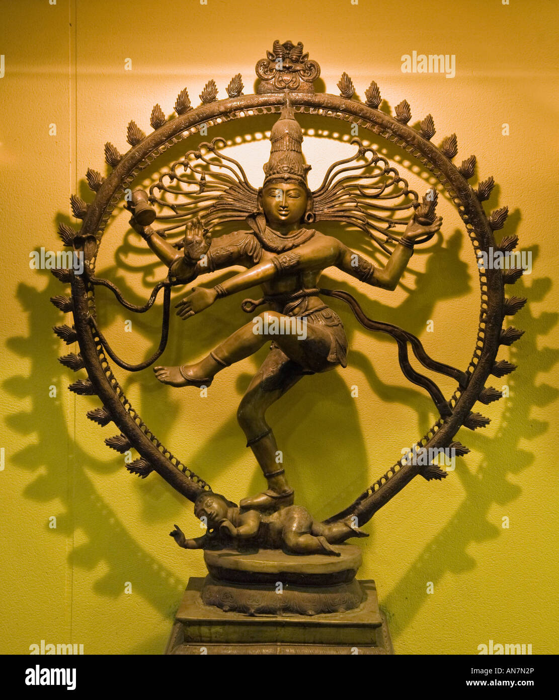 Shiva in dancing posture of Nataraja the King of Dance - Stock Image