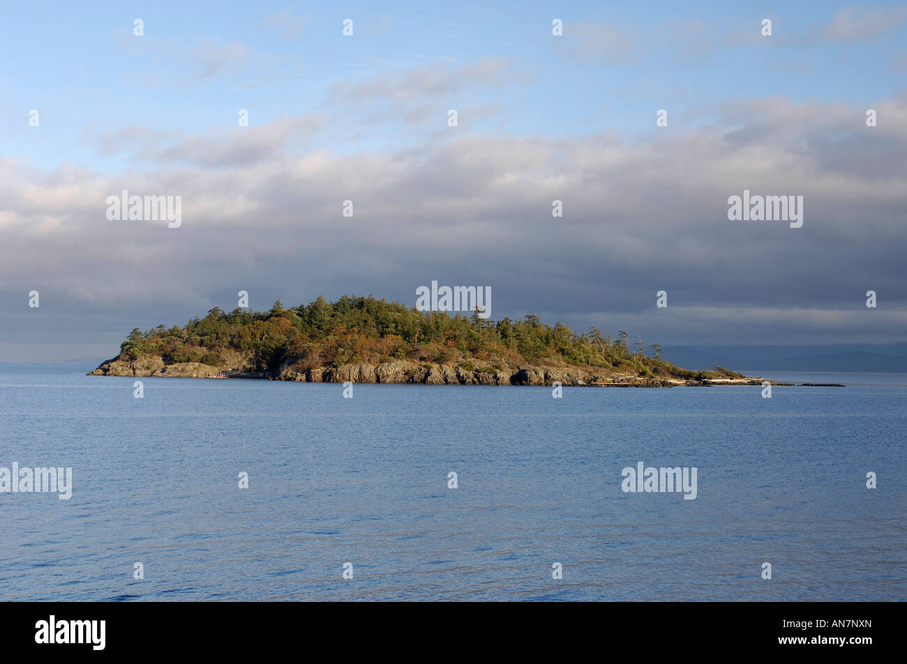 Mistaken Island in the Georgia Straight Nanoose Bay Vancouver Island - Stock Image