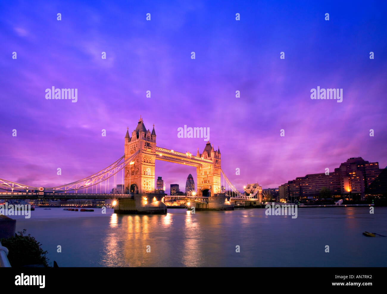 Tower Bridge and River Thames London Stock Photo