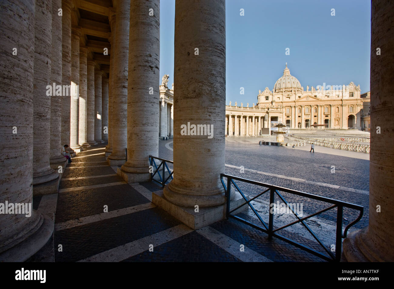 Italy Rome the Vatican City View to St Peters Basilica Stock Photo