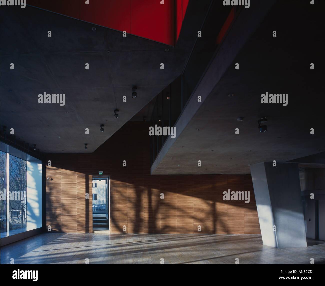 Netherlands Embassy, Berlin. Interior. Architect: Rem Koolhaas OMA - Stock Image