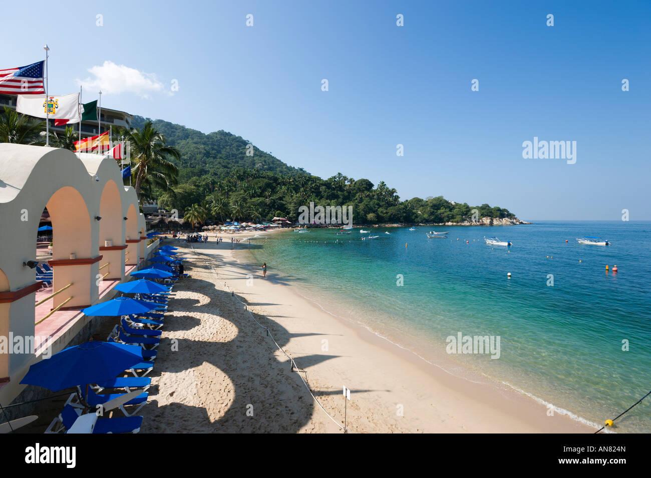 Beach From Hotel Barcelo La Jolla De Mismaloya Mismaloya