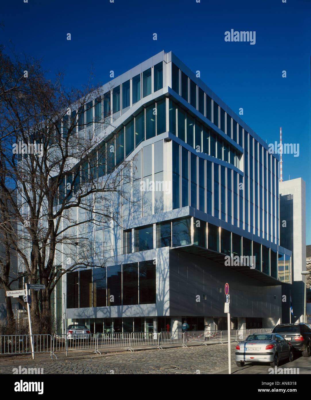 Netherlands Embassy, Berlin. Exterior. Architect: Rem Koolhaas OMA - Stock Image