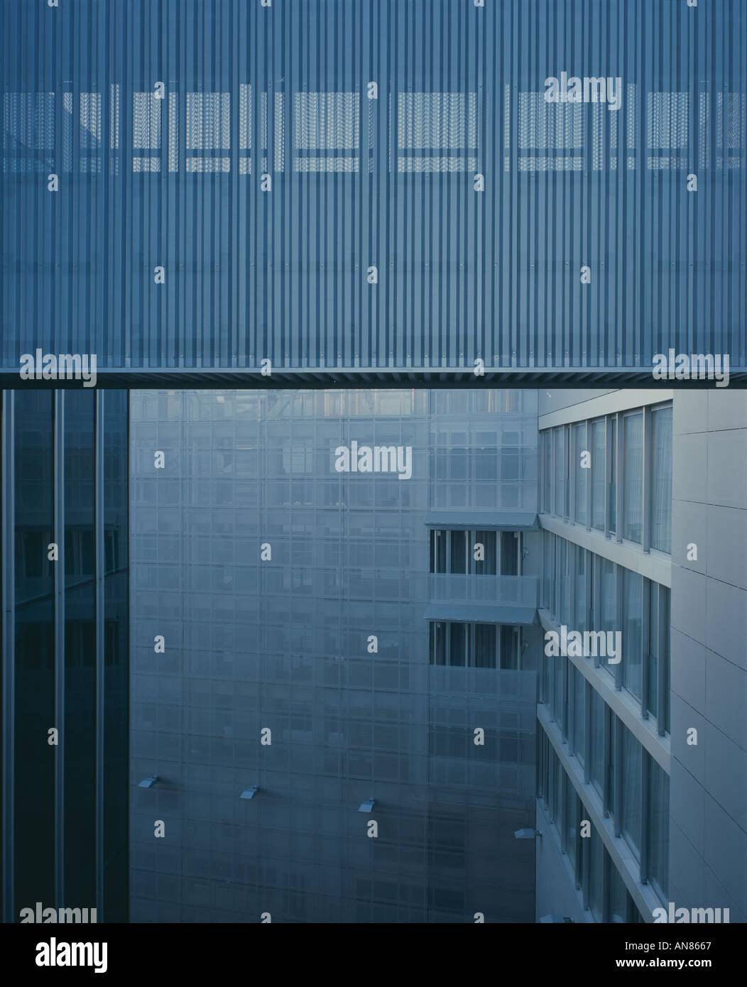 Netherlands Embassy, Berlin. Exterior. Architect: Rem Koolhaas - Stock Image