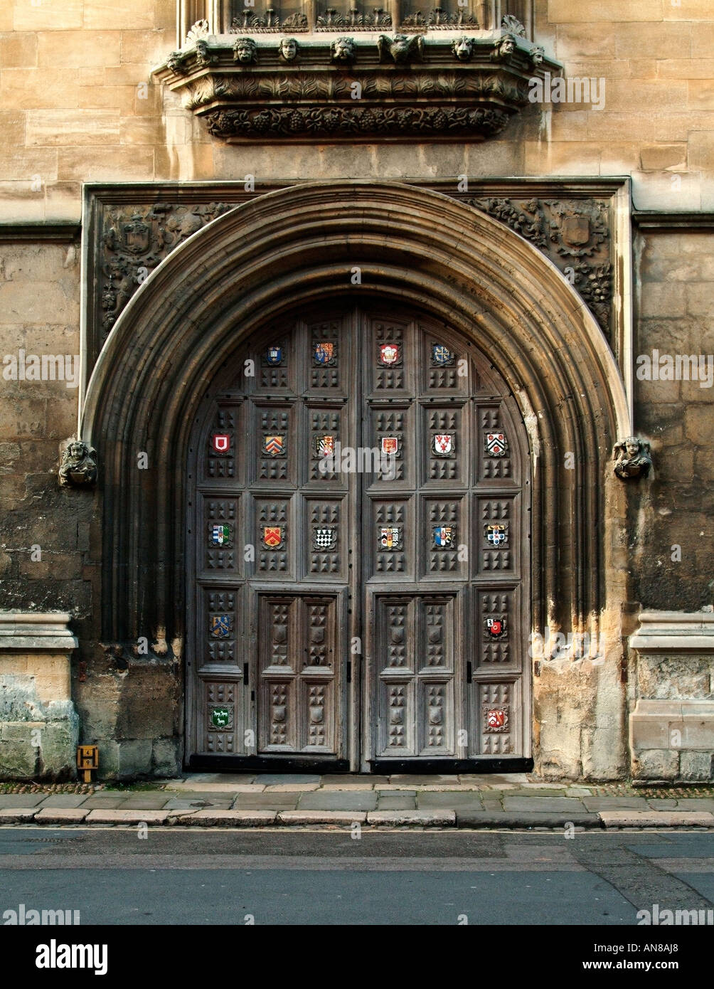 The wooden doors of Oxford University Bodleian Library & The wooden doors of Oxford University Bodleian Library Stock Photo ...