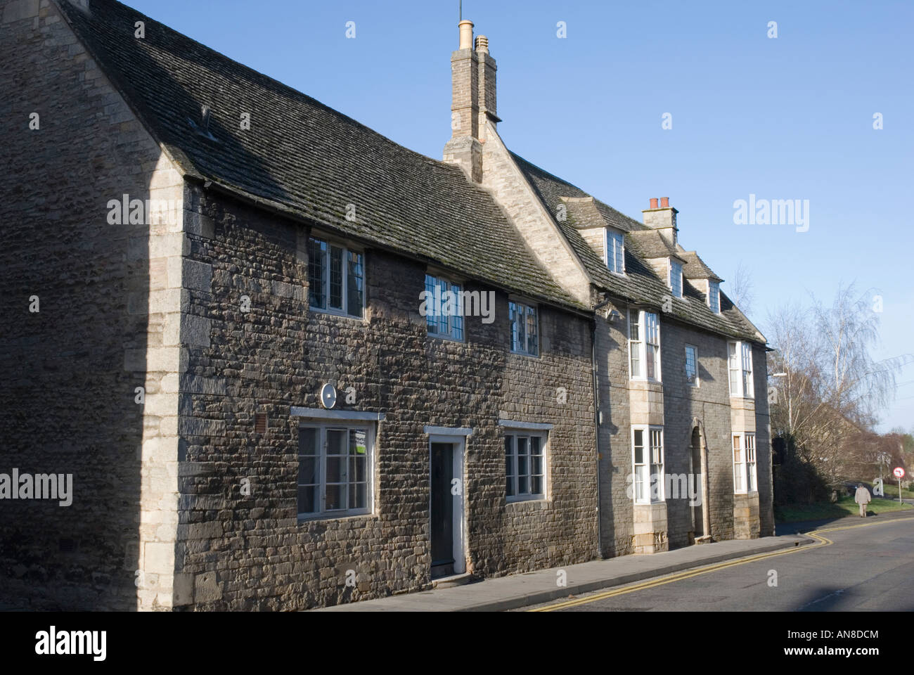 Old houses in North Street Oundle England - Stock Image
