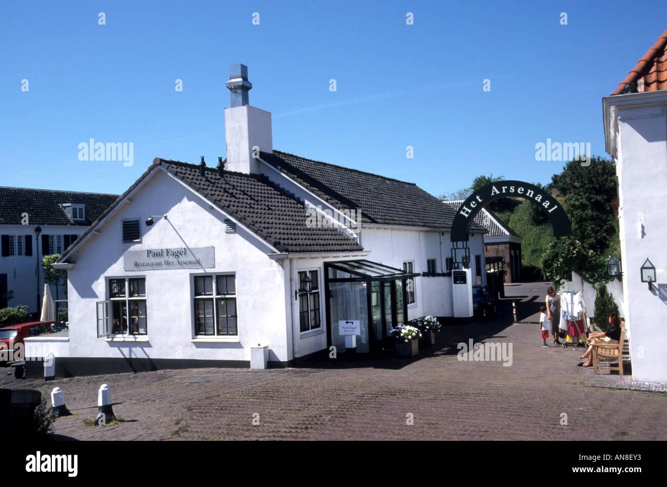 Arsenaal Naarden Vesting restaurant Netherlands - Stock Image
