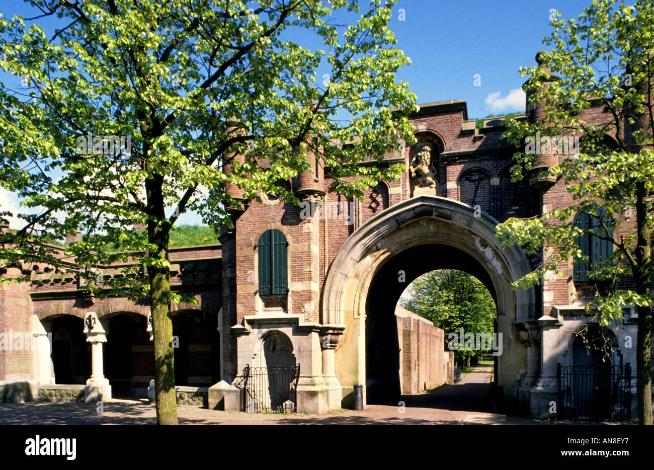 Gate In Naarden Vesting North Holland - Stock Image