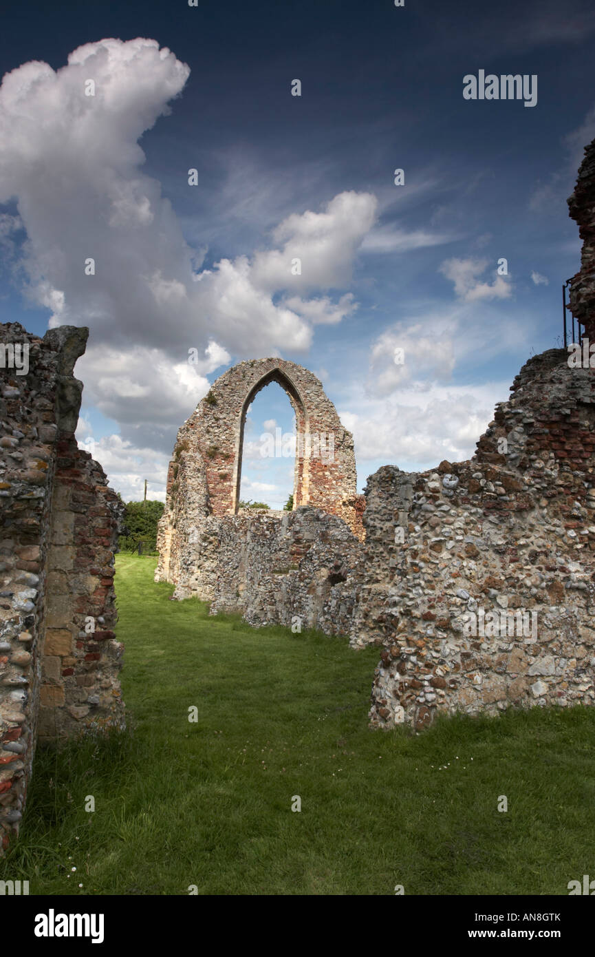 The ruins of leiston abbey, suffolk, UK - Stock Image