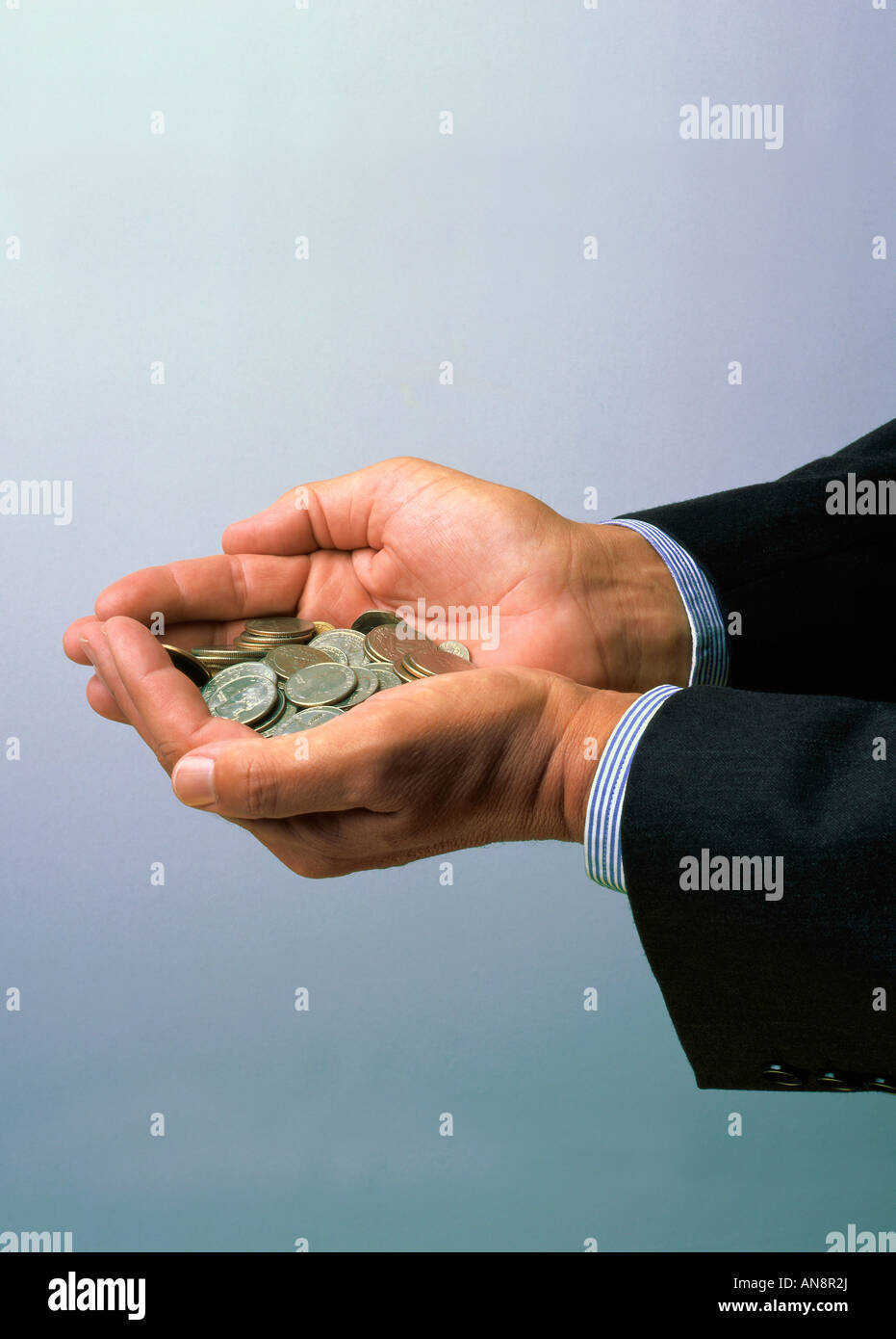 Hands holding Dollars - Stock Image