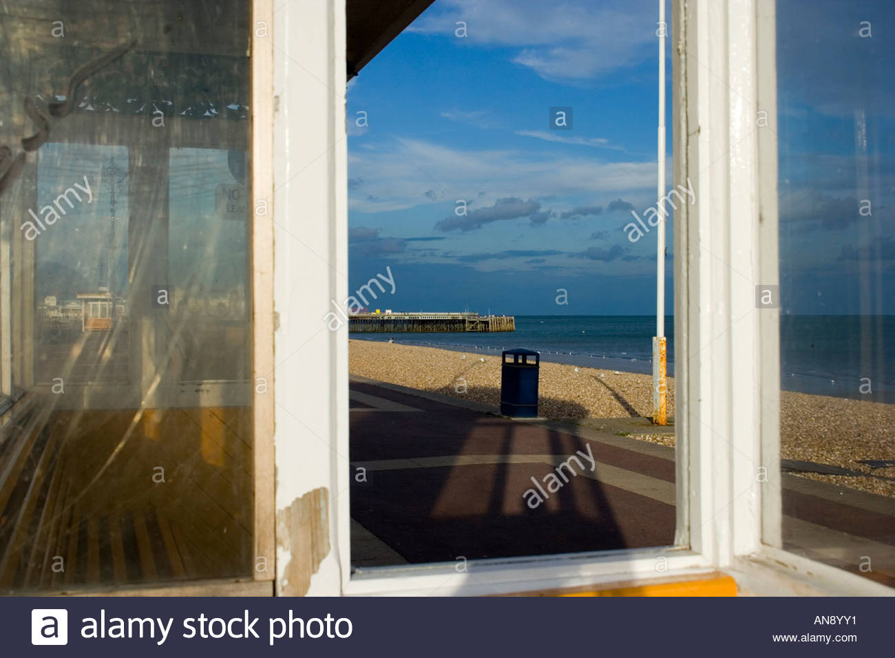Southsea Old Shelter - Stock Image