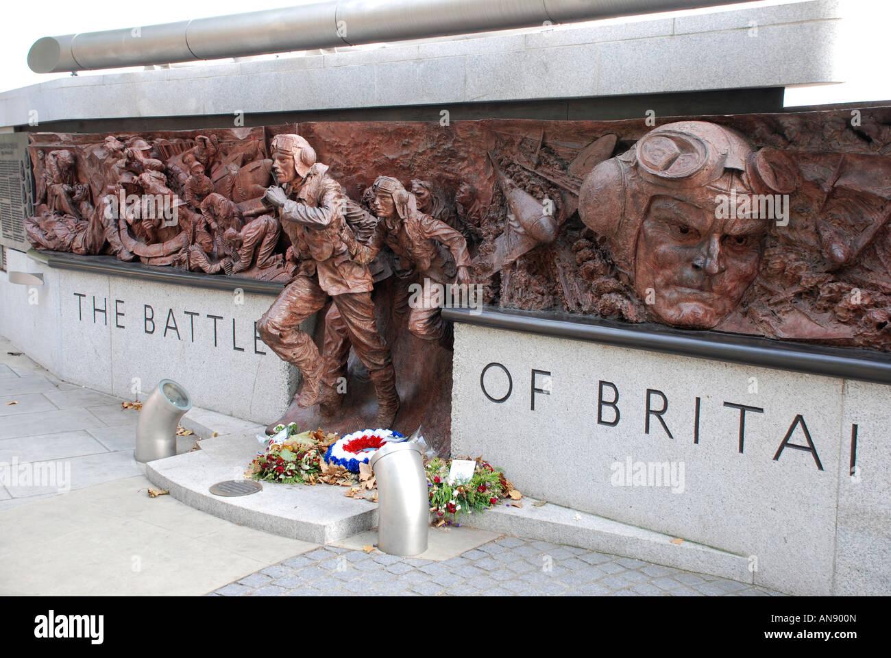 Battle of Britain memorial statue, London - Stock Image