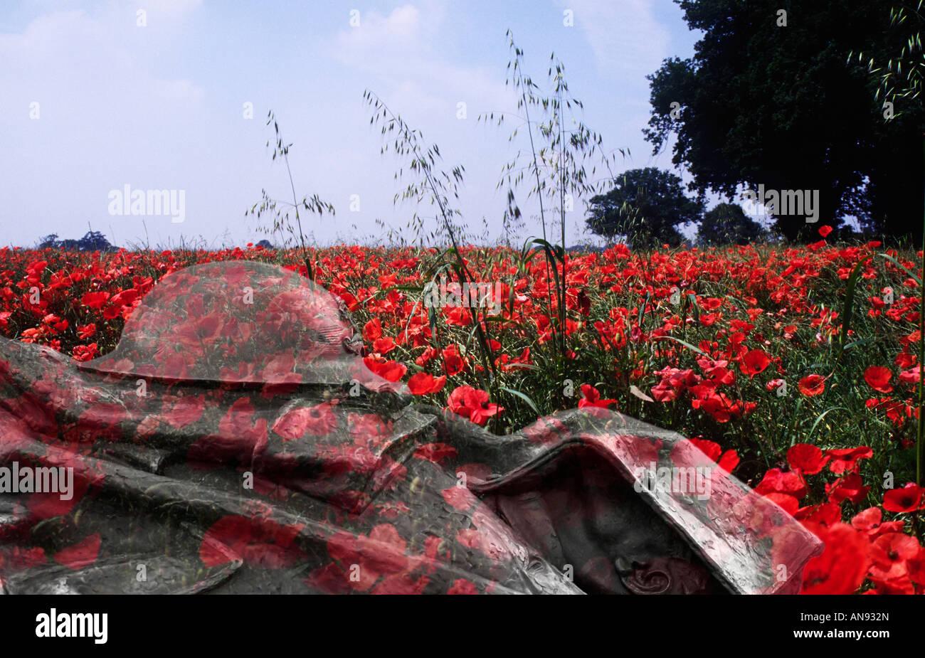 First World War montage - Stock Image