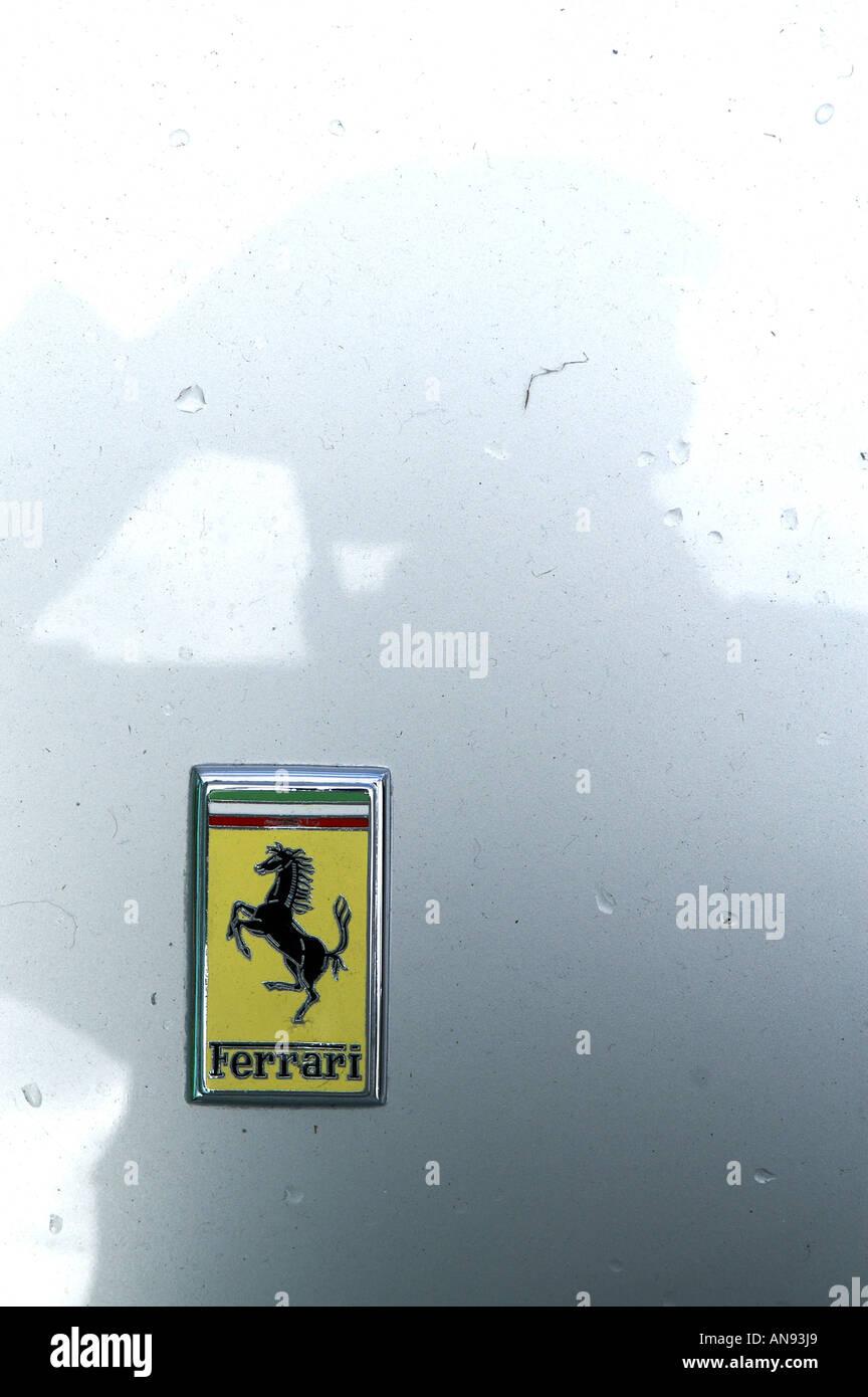 Ferrari logo - Stock Image