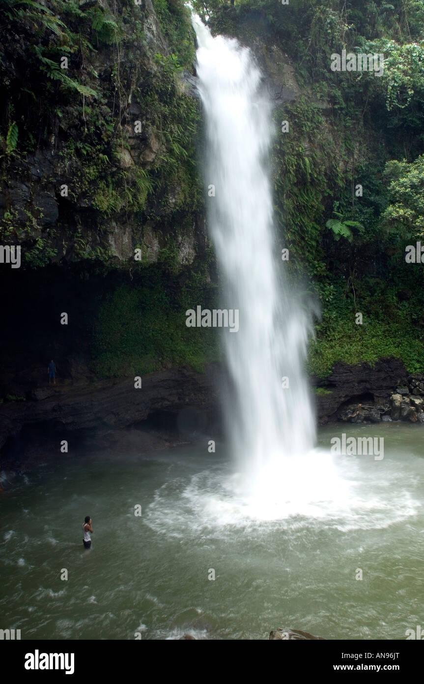 Bouma Falls On Taveuni Island Fiji Melanesia South Pacific