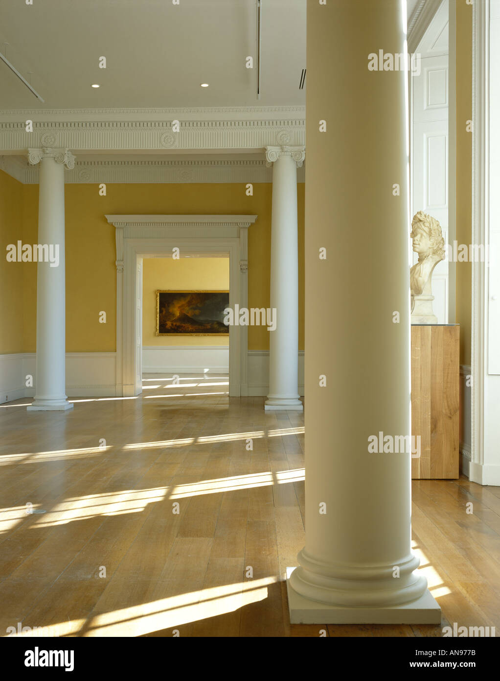 Compton Verney, Warwickshire. Gallery space. Architect: Stanton Williams, Robert Adam - Stock Image