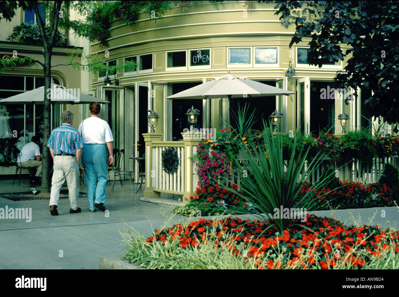 Shaw Cafe Niagara on the lake Ontario Canada - Stock Image