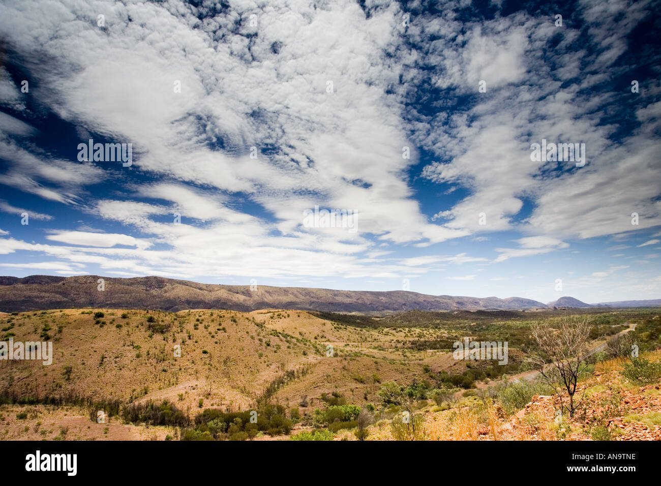 West Macdonnell Mountain Range Northern Territory Australia - Stock Image